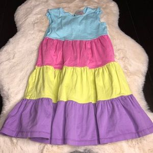 Hanna Andersson tiered 110 (5-6) dress multi color